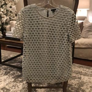 Ann Taylor Embroidered Blouse